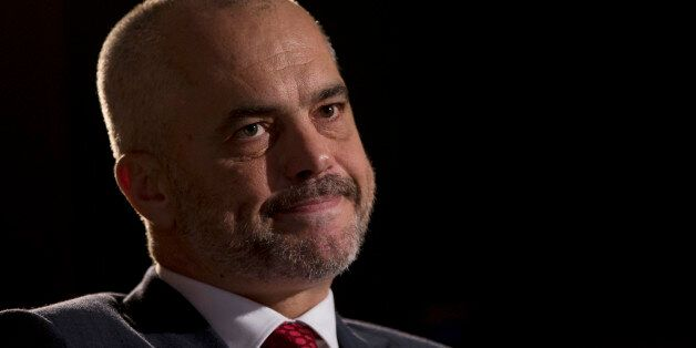 Albanian Prime Minister Edi Rama talks to Reuters during an interview in Belgrade November 10, 2014....