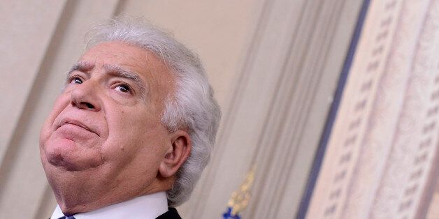 ROME, ITALY - DECEMBER 10: The Representative of the 'Ala-scelta civica' party, Denis Verdini speaks...
