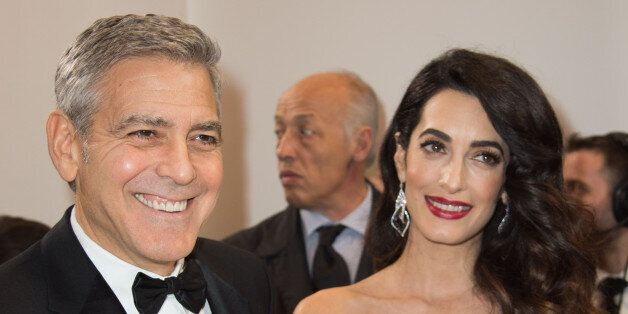 PARIS, FRANCE - FEBRUARY 24: George Clooney and Amal Clooney attend the Cesar Film Awards 2017 ceremony...