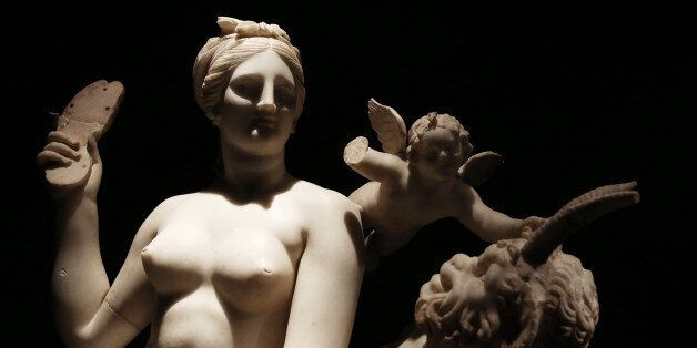 Group of Aphrodite, Pan and Eros from Delos. About 100 BC. Opening of the exhibition
