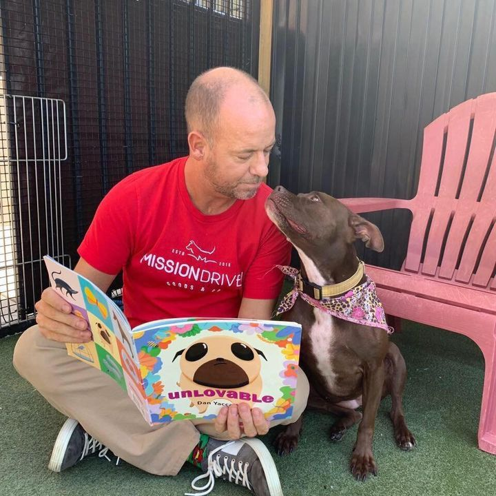 Scott Poore, a Kansas City animal advocate, has moved into his local animal shelter to help find a dog named Queen a forever