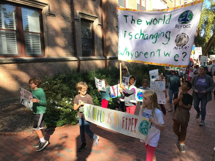 A climate strike in Chapel Hill, North Carolina.