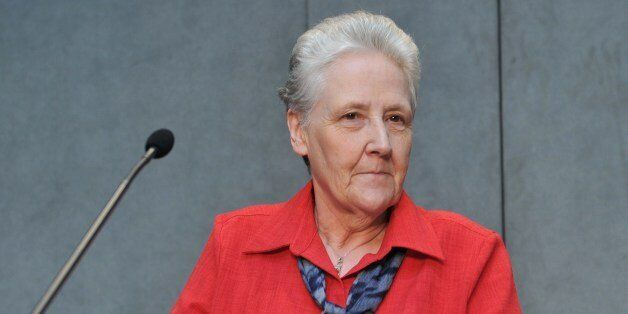 Member of the anti-pedophilia Pontifical commission, Irish Marie Collins attends a press conference on...