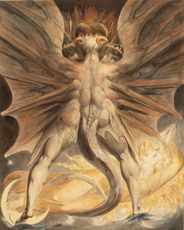 'Dragón rojo y mujer vestida de sol', de William