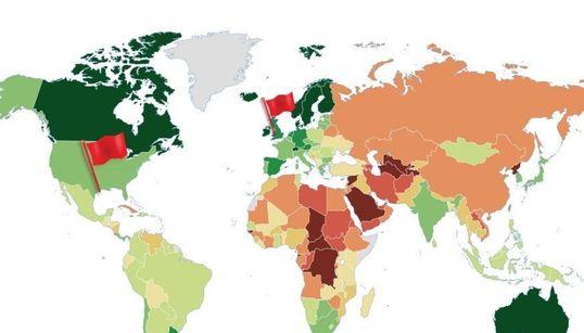 Αυτός ο χάρτης που δείχνει την κατάσταση της δημοκρατίας στον κόσμο θα σας