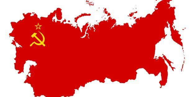 The territory of the Soviet Union. Isolated illustration on a white