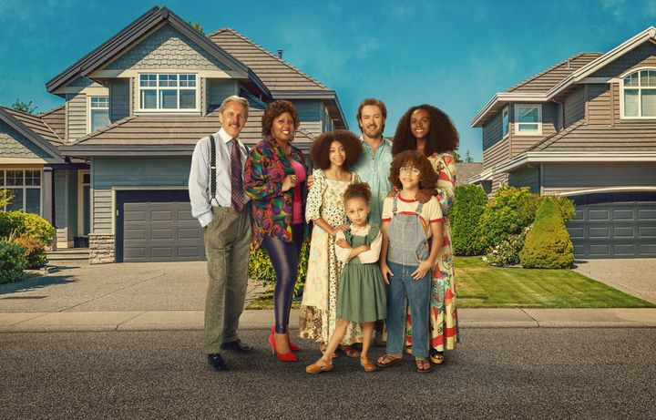 "ABC's ""Mixed-ish"" stars Gary Cole as Harrison Johnson, Christina Anthony as Denise, Arica Himmel as Bow Johnson, Mykal-Michel"