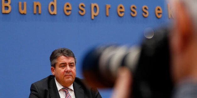 German Economy Minister Sigmar Gabriel addresses a news conference in Berlin Germany, December 19, 2016....