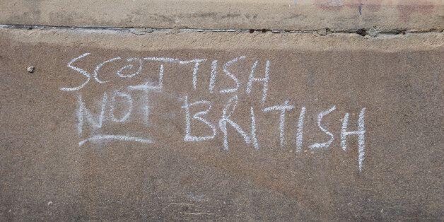 Scottish Patriottism. Edinburgh, Scotland
