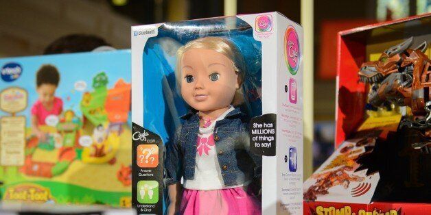 The talking doll 'My Friend Cayla' is displayed at the DreamToys toy fair in central London, on November...