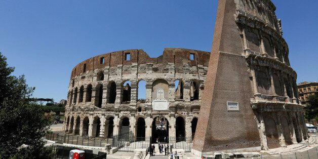 A view of the Colosseum after the latest stage of restoration by luxury goods firm Tod's in Rome, Italy,...