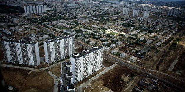 (GERMANY OUT) Nischnewartowsk: neue Industriestadt beim'Samotlor' Erdölfeld in West - Sibirien- 1987...