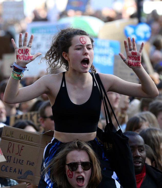 [화보] '플래닛 B는 없다' : 전 세계에서 열린 '기후변화 파업'의 현장