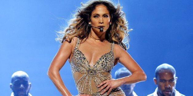 ROTTERDAM, NETHERLANDS - OCTOBER 29: Jennifer Lopez performs on stage at Ahoy on October 29, 2012 in...