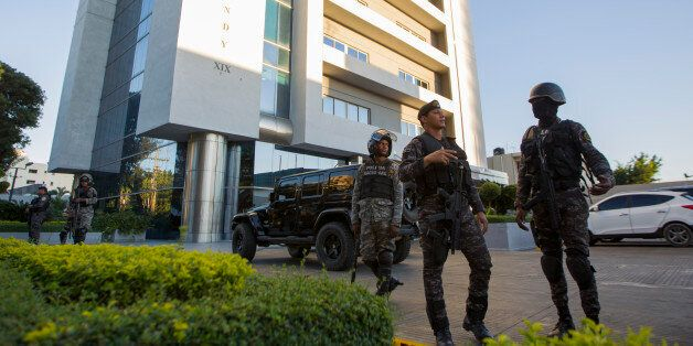 Police raid the corporate offices of the Odebrecht Brazilian construction company by order of the Attorney...