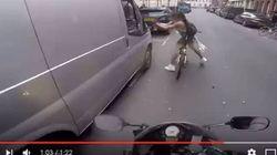 Πιθανώς στημένο το βίντεο με την ποδηλάτισσα που «εκδικείται» οδηγό που την