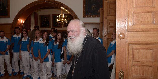 ARCHBISHOP OF ATHENS, ATHENS, ATTIKI, GREECE - 2016/07/15: Orthodox Archbishop of Athens and all Greece...