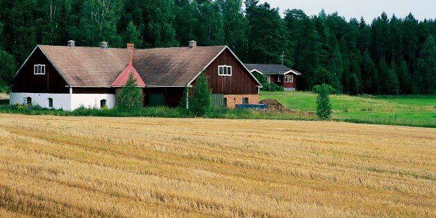 FINLAND - OCTOBER 10: A farm in the region of Lake Paijanne, Finland. (Photo by DeAgostini/Getty