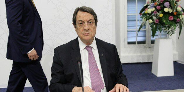 VALLETTA, MALTA - FEBRUARY 3: Greek-Cypriot leader Nicos Anastasiades is seen during an informal European...