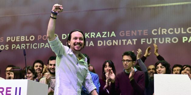 Leader of left-wing party Podemos, Pablo Iglesias takes part in a decisive two-day Party congress at...