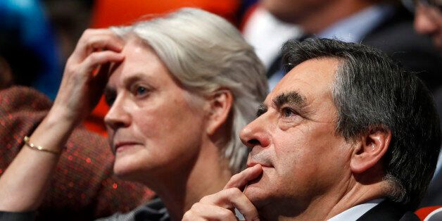 French politician Francois Fillon, member of the conservative Les Republicains political party and his...