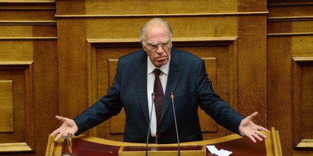 HELLENIC PARLIAMENT, ATHENS, ATTIKI, GREECE - 2016/12/10: Vassilis Leventis, leader of Central Union...