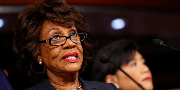 WASHINGTON, DC - JANUARY 31: Rep. Maxine Waters (D-CA) speaks at a press conference on Capitol Hill January...