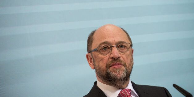 Candidate of the German Social Democrats, SPD, for the upcoming elections and former President of the...