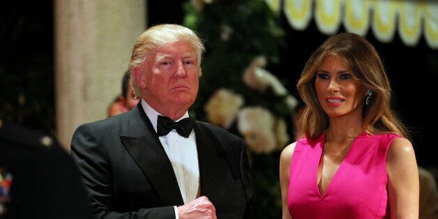 U.S. President Donald Trump and First Lady Melania Trump attend the 60th Annual Red Cross Gala at Mar-a-Lago...
