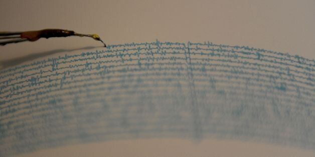 View of a seismograph at the National Seismological Service in the campus of the National Autonomous...
