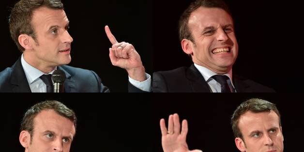 (COMBO) This combination of pictures created on January 31, 2017 shows French presidential election candidate...