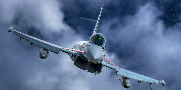 LINCOLNSHIRE, UNITED KINGDOM - JULY 11: Eurofighter Typhoon with 100th Centenary Tail and colour scheme...