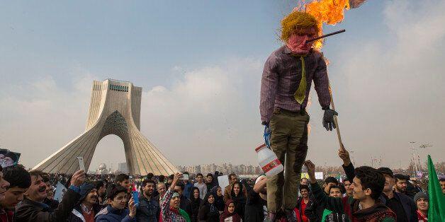 TEHRAN, IRAN - FEBRUARY 10: Iranians celebrate the anniversary of the 1979 Islamic Revolution and denounce...