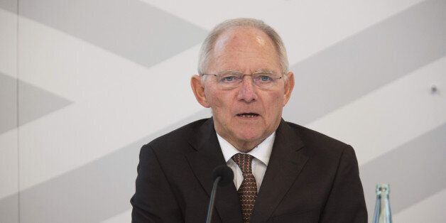 Wolfgang Schaeuble, Germany's finance minister, speaks during the G20 Digitising Finance conference in...