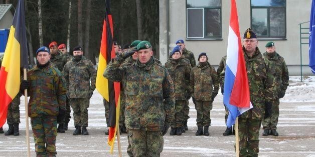 Commander of the NATO battalion battlegroup and the German contingent in Lithuania Lieutenant Colonel...