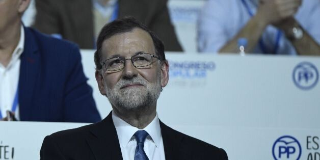 Spanish Prime Minister, Mariano Rajoy sits during the XVIII Popular Party three day congress in Madrid...