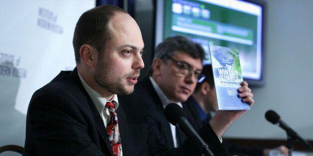 WASHINGTON, DC - JANUARY 30: Vladimir Kara-Murza (L), senior policy adviser at the Institute of Modern...