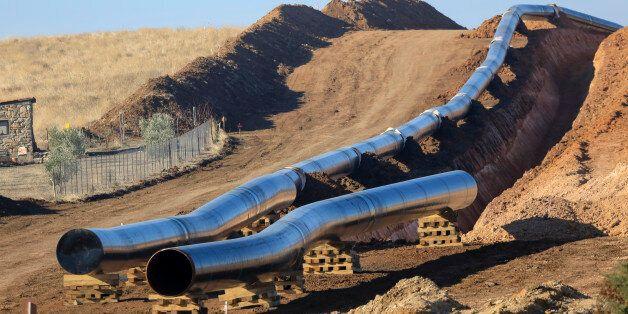 ALEXANDROUPOLI , GREECE - DECEMBER 24: Trans Adriatic Pipeline construction site in Alexandroupoli, near...