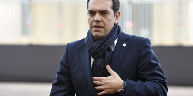 Greec's Prime Minister Alexis Tsipras arrives for an Informal summit of EU heads of state or government...