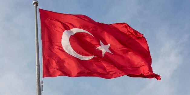 Turkish flag on sky