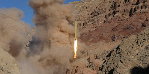A ballistic missile is launched and tested in an undisclosed location, Iran, March 9, 2016. REUTERS/Mahmood...