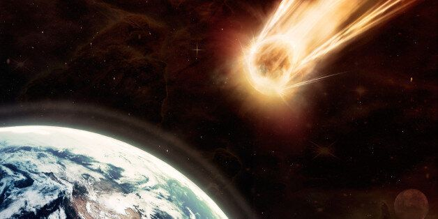 Chilling image of a meteor moments before impact with