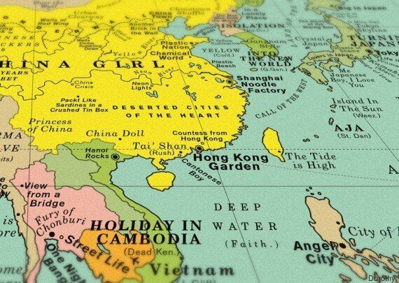 Υπάρχει ένας χάρτης με τίτλους τραγουδιών αντί για ονόματα τοποθεσιών και τον θέλουμε