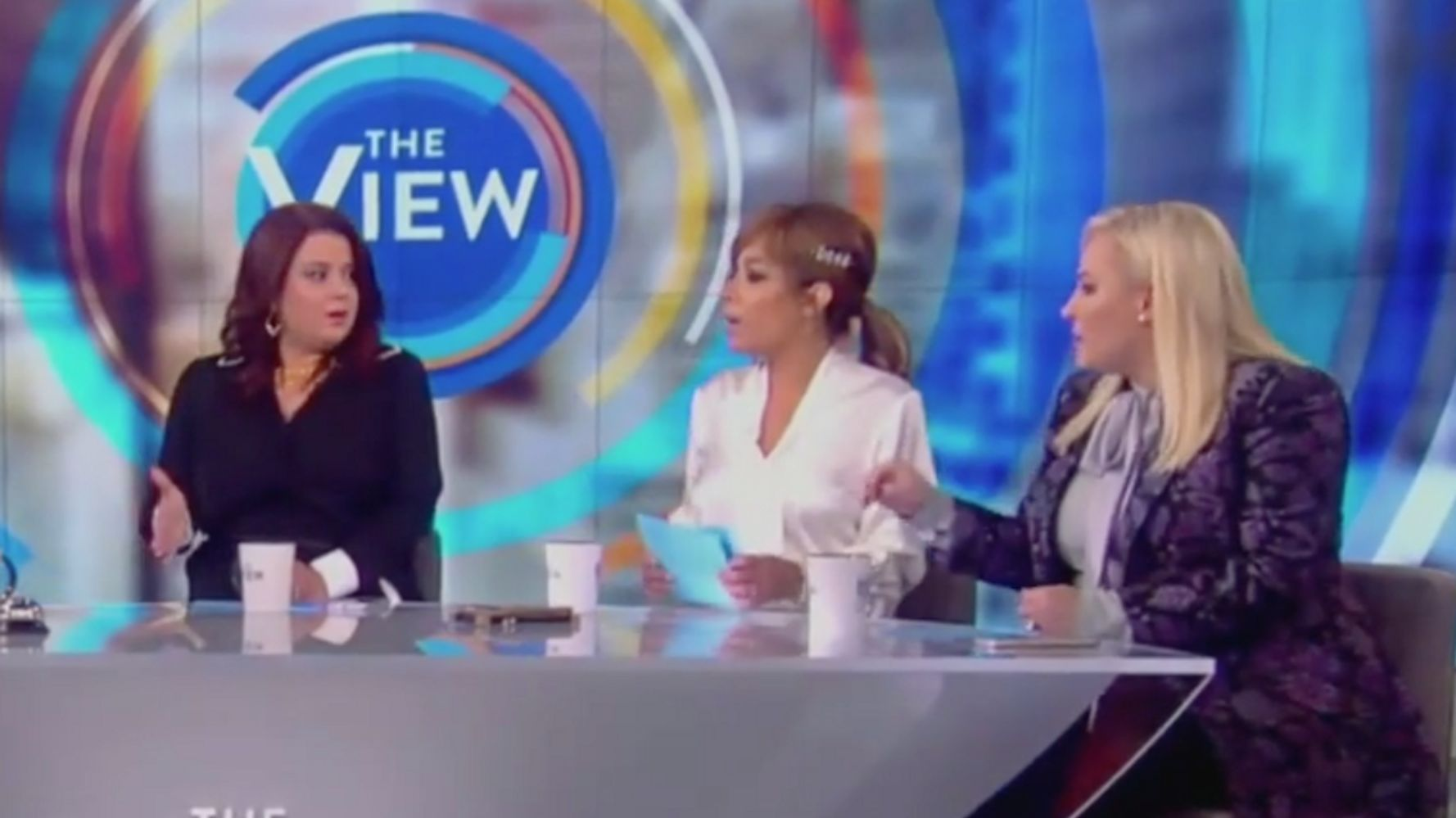 Westlake Legal Group 5d8500c92300005700d00f56 Meghan McCain Walks Off 'The View' Set After Clash With Ana Navarro