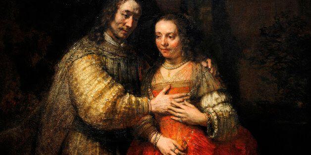 Rembrandt Harmenszoon van Rijn (1606-1669). Dutch painter. The Jewish Bride, c.1665-1669. Rijksmuseum,...