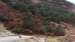 Βίντεο: Κατολίσθηση σε βουνό στη Μοίρα