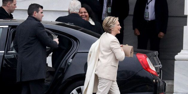 Hillary Clinton, former U.S. Secretary of State, arrives for the 58th presidential inauguration in Washington,...