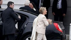 H άφιξη της Χίλαρι Κλίντον στο