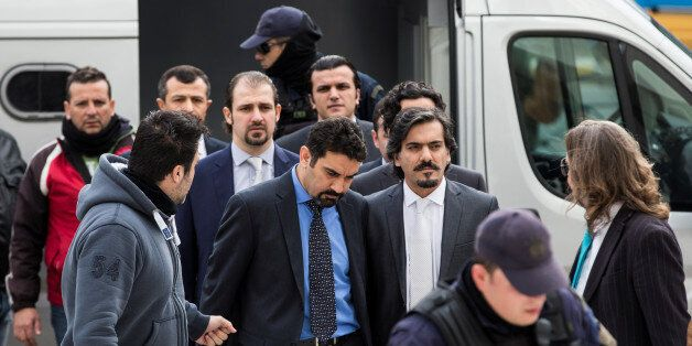 The eight Turkish soldiers, who fled to Greece in a helicopter and requested political asylum after a...