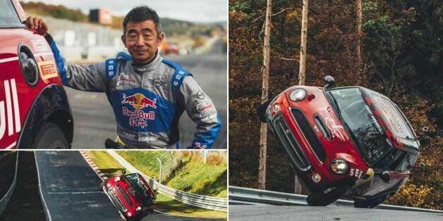 Ρεκόρ Guiness από οδηγό Mini Cooper: 20,8 χλμ σε 45 λεπτά και 59 δευτερόλεπτα στους ΔΥΟ τροχούς, σε «ζόρικη»...